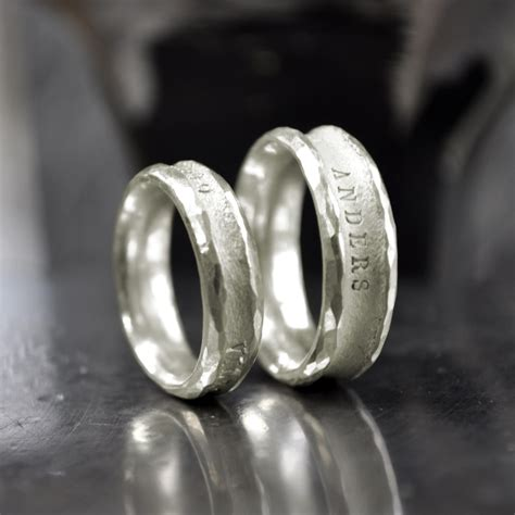 Partnerringe Silber Gold by Pureform Trauringe Partnerringe Anders Weissgold