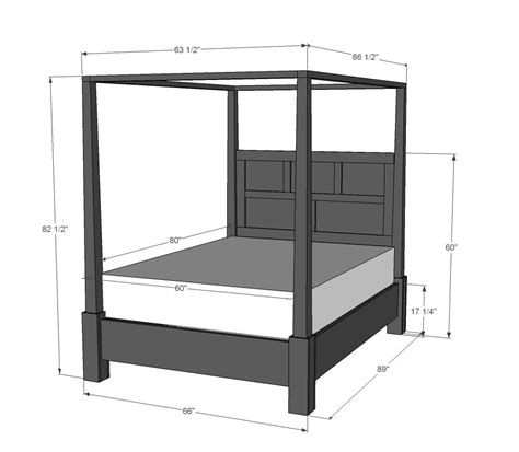 poster beds with canopy ana white build a dawsen canopy or poster bed queen