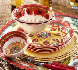pottery barn melamine dinnerware cabo melamine dinnerware set of 4 pottery barn