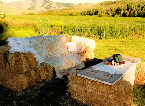 straw bale couch 15 best hay bale seating images on pinterest