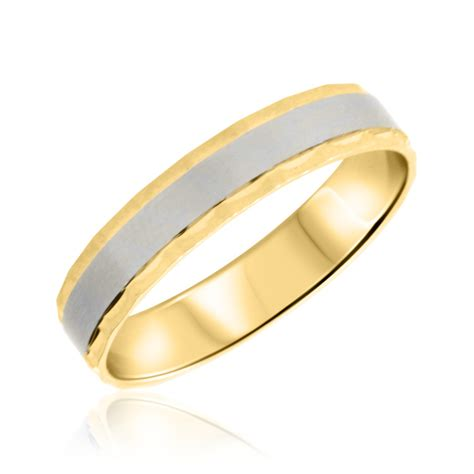 10k Gold Wedding Band by No Diamondstraditional Mens Wedding Band 10k Yellow Gold