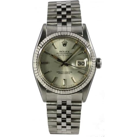 pre owned rolex s steel datejust 16014 pre