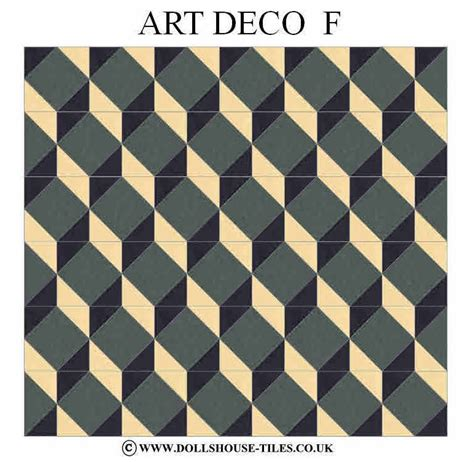 art deco floor dolls house miniatures dolls house tiles flooring art
