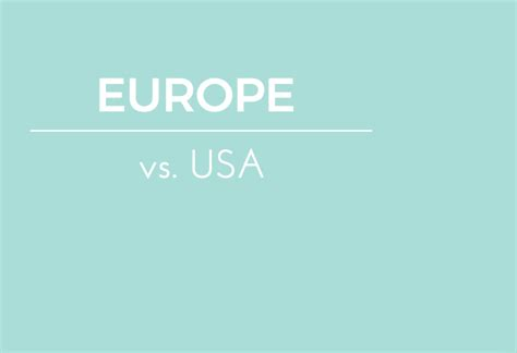 Best European Mba For Americans by In Europe Vs Usa Europe Vs Usa Well Traveled
