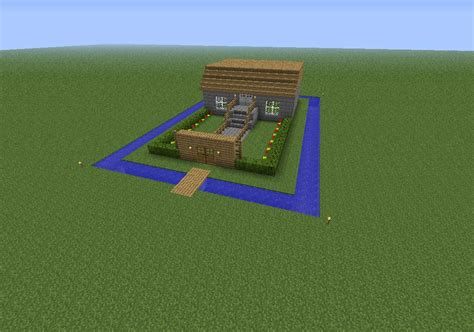 house with a moat a house with a moat minecraft project