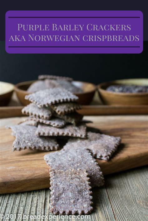 purple crackers for crispbreads purple barley crackers bread