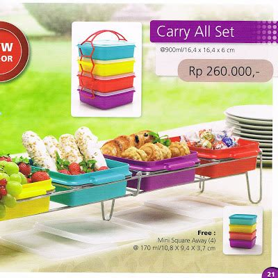 Free Snack Cup Large Carry All Set tupperware surabaya diskon 087854807222 tupperware promo