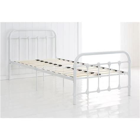 Single Up Mattress Kmart vintage style metal frame single bed white kmart