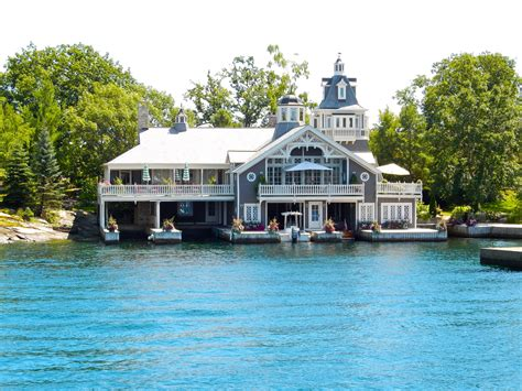 boat house by the bay alexandria bay ny home with attached boathouse