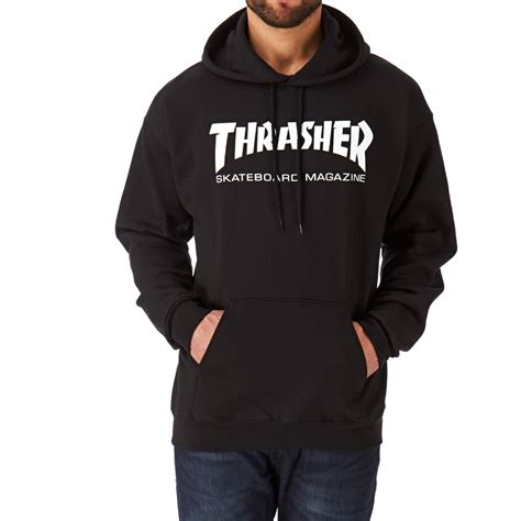 Hoodie Thrasher Cloth thrasher skate mag hoody black free uk delivery on all orders
