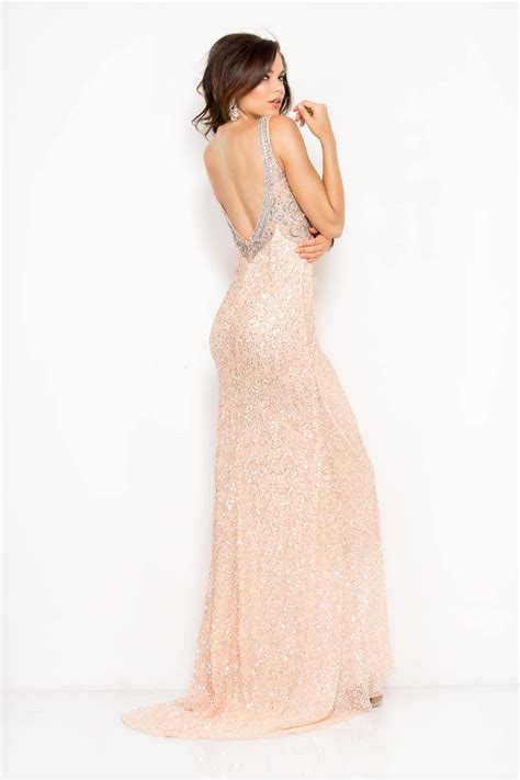 blush beaded dress scala blush pink sequin beaded slit dress alila