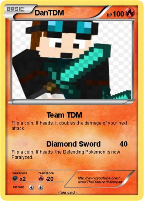 Dantdm Cards pok 233 mon dantdm 3 3 team tdm my card