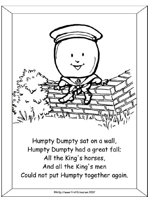 free coloring pages of humptydumpty