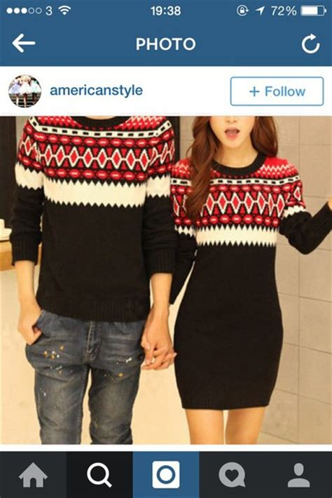 Dress: couple sweaters, christmas sweater, sweater, red dress, holiday season, style, winter