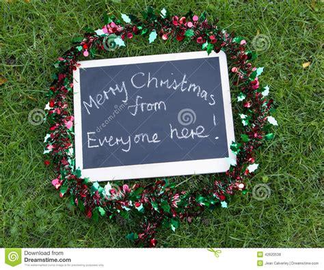 merry christmas    message stock photo image