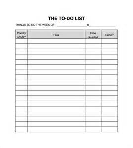 Sample To Do List Template Sample To Do Checklist 9 Documents In Pdf Word