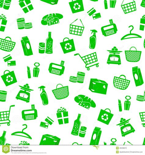 seamless pattern with shopping icons shopping pattern stock photography image 26338972