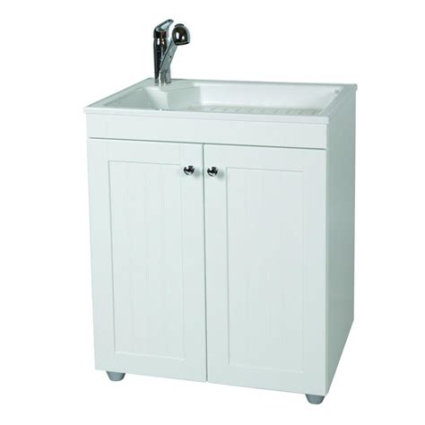home depot laundry sink glacier bay all in one 27 5 in w x 21 8 in d composite