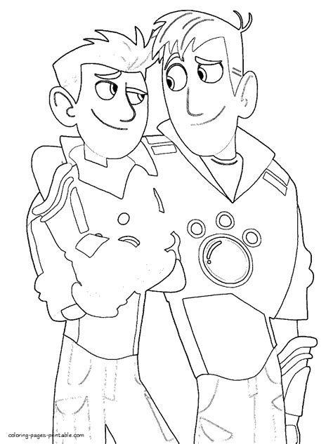 wild kratts coloring pages for kids az coloring pages