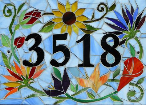 house numbers pattern custom made mosaic house numbers signs 50 00 by l a