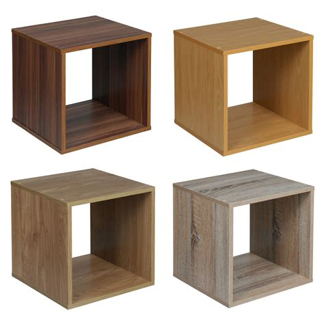 Cube Cabinet by Wooden Bedside Bookcase Shelving Display Storage Wood