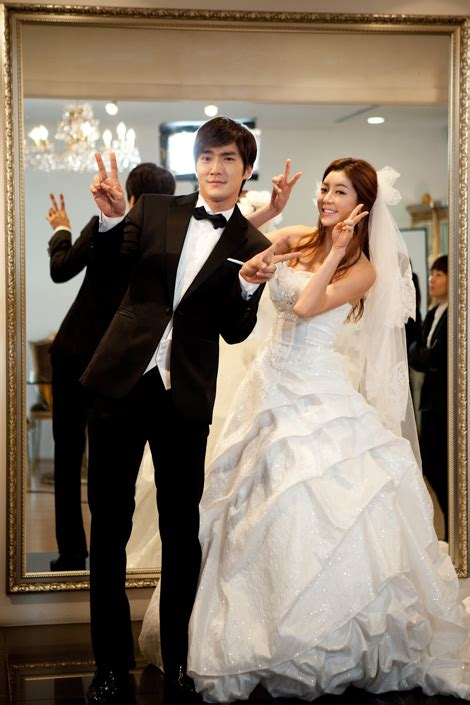 dramanice oh my lady 14 gorgeous choi si won wedding photos just in time for