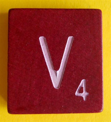 scrabble replacement parts single maroon scrabble wood letter v tile one only