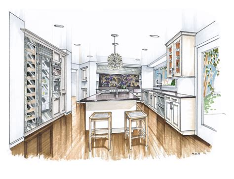 kitchen renderings interior design