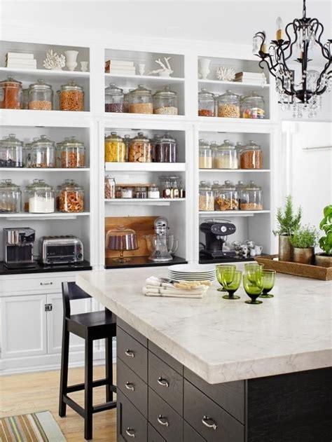 open shelf kitchen cabinets open shelves pretty jars kitchen spaces pinterest