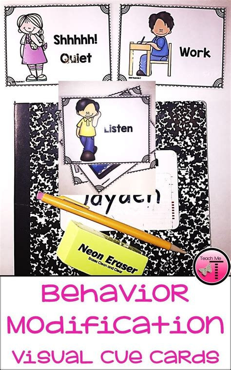 Behaviour Modification Classroom Management by Behavior Modification Visual Cue Cards Behavior