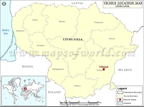 lithuania location on world map where is vilnius location of vilnius in lithuania map