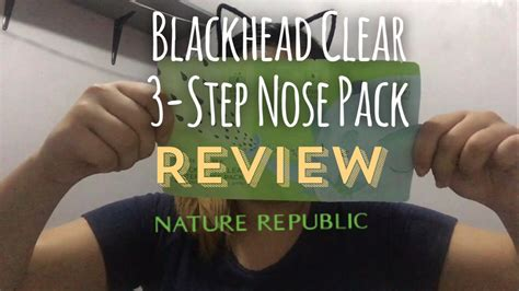 Harga Nature Republic Blackhead Clear 3 Step Nose Pack nature republic blackhead clear 3 step nose pack review