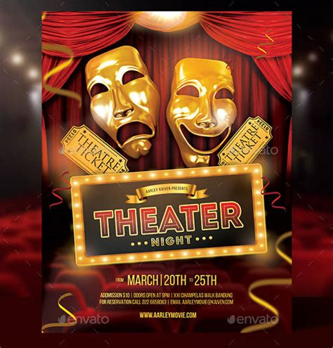 Theater Flyer Template 9 Free Psd Vector Ai Eps Format Download Free Premium Templates Play Flyer Template