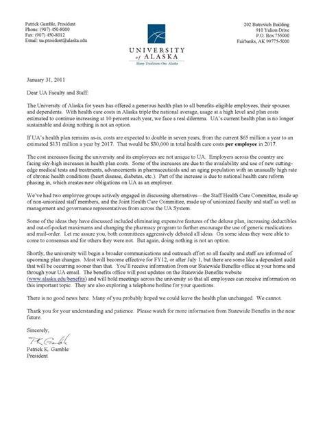 Open Enrollment Letter To Employees The Letter Sle Open Enrollment Memo Template