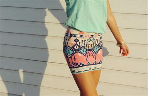 tribal patterned mini skirt skirt aztec aztec skirt blouse tribal pattern