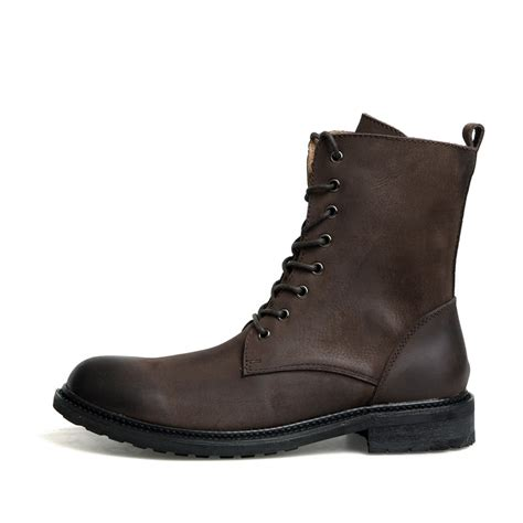 cool mens leather boots mens cool boots tsaa heel