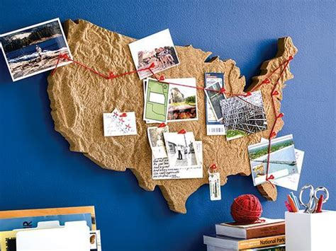 white  tan cork usa wall board