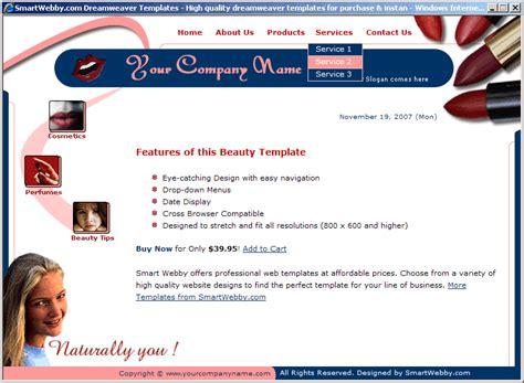 Smart Beauty Template Smart Website Templates