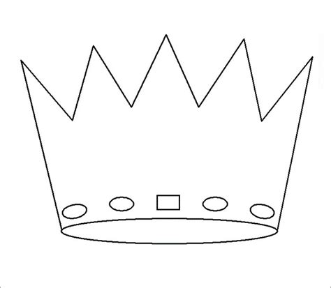 prince crown template crown template free templates free premium templates