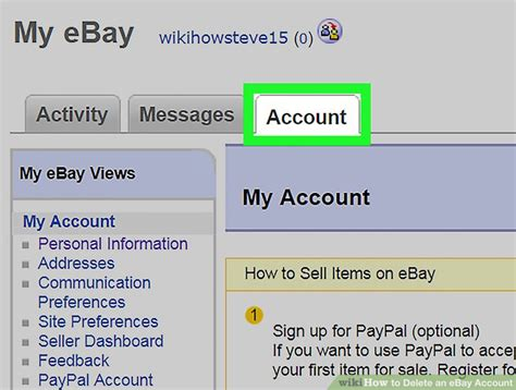 ebay my account how to delete an ebay account 12 steps with pictures