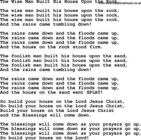 the wise man built his house upon the rock music 55 best children christian song images on pinterest children songs christian songs and kids