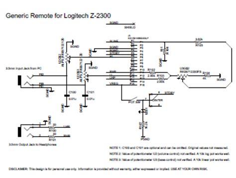 logitech z 2300 remote pod disassembly