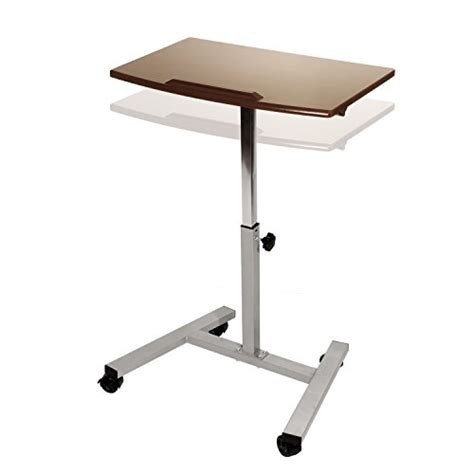 laptop desk cart seville classics tilting mobile laptop desk cart desertcart