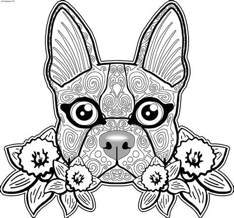 sugar skull coloring page pdf sugar skull dog coloring pages pdf free printable