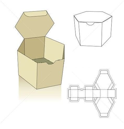 template for packaging polygon box template hledat googlem boxes ideas