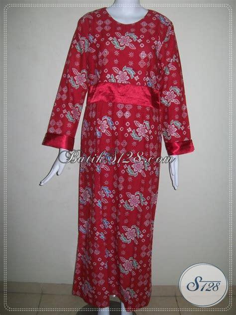 Baju Muslim Batik Unik gamis batik merah hijabres til mewah baju batik muslim berkelas dan trendy busana batik