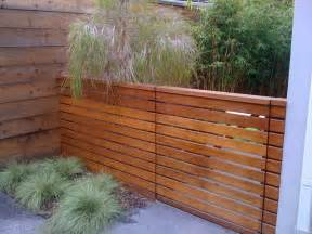 Modern Fence Horizontal Privacy Fence Deck Modern With Beige Umbrella