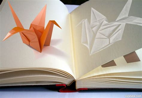 Origami Pop Up Book - ikebana origami picture by drivenslush for pop up book 2