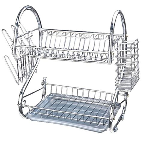 tier stainless steel dish rack space saver dish