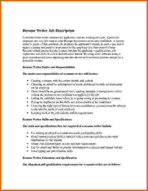 How To Write Responsibilities In Resume 10 how to write description on resume lease template